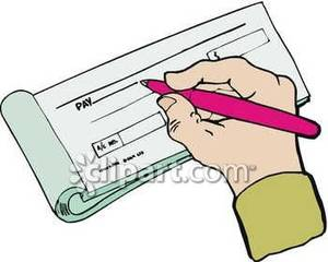 clip stock Person royalty free picture. Writing a check clipart