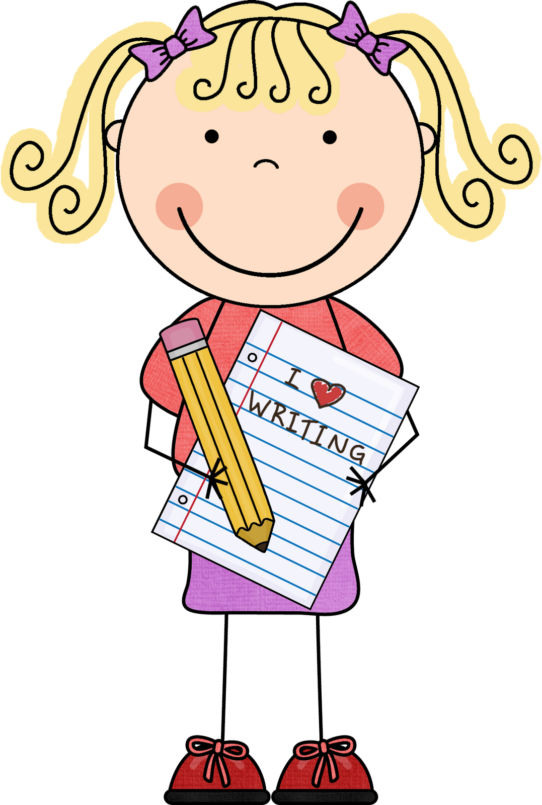 image download  collection of kindergarten. Writer clipart dictation.