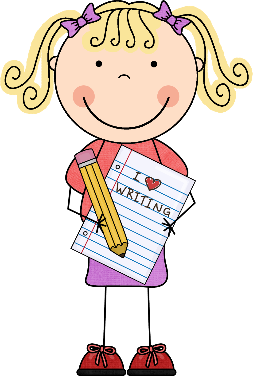 clipart library library Boy writing clipart. Image of girl clipartoons
