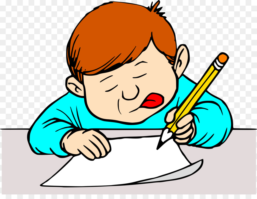 picture royalty free library Writing letter clipart. Cartoon boy child transparent