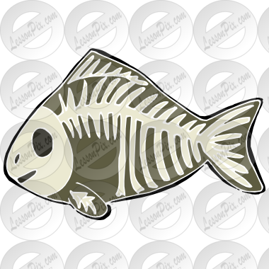 png black and white library X ray fish clipart. Stencil for classroom therapy