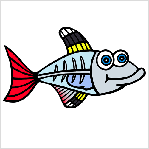 vector library download X ray fish clipart.  clipartlook
