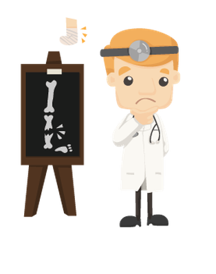 image black and white X rays clipart. Set of doctor characters