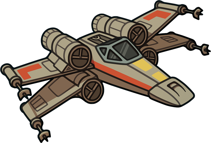 banner transparent download X wing clipart.  collection of fighter