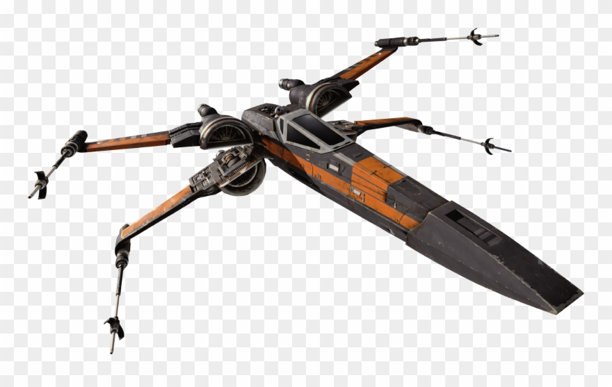 jpg black and white library X wing clipart. T fighter starfighters