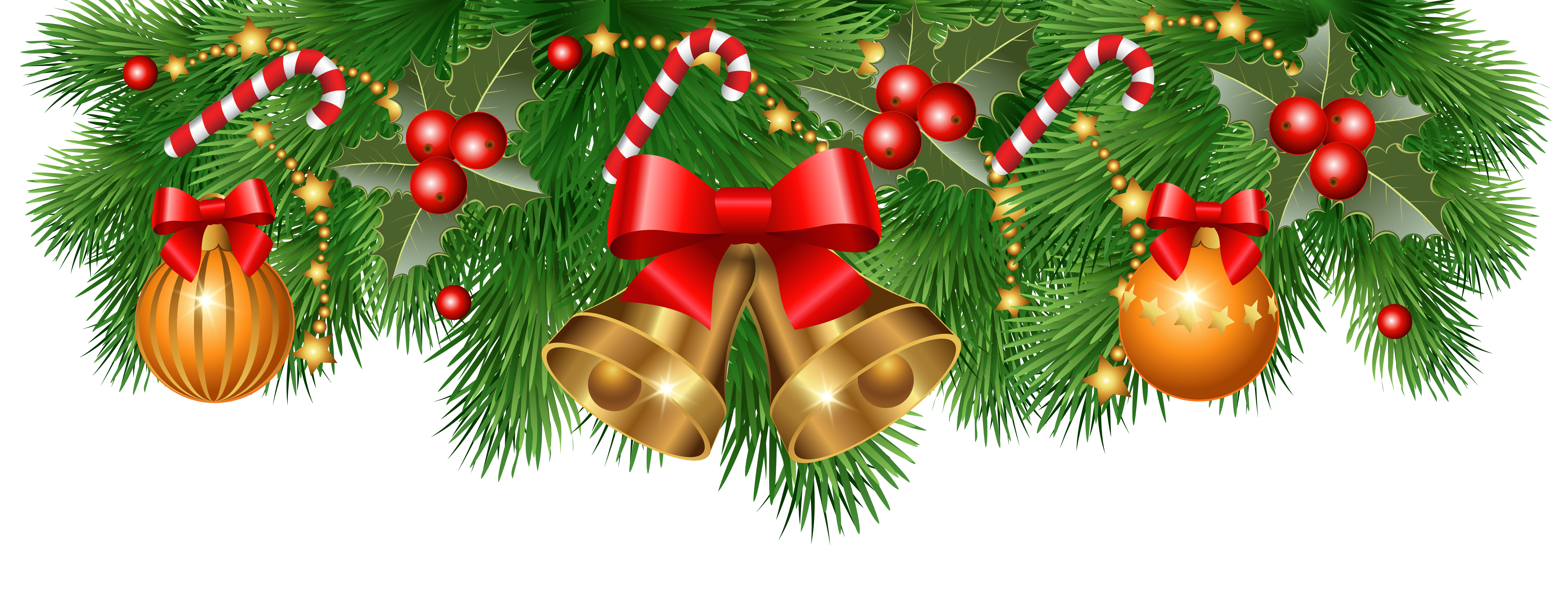 black and white stock Christmas borders clipart. Border decoration png image.