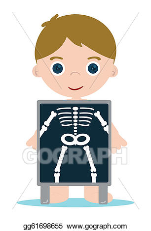 free download X ray clipart. Eps illustration bones kid