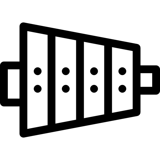 png royalty free download Flat icon . Xylophone black and white clipart.