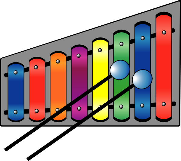 clip art Colourful clip art at. Xylophone clipart