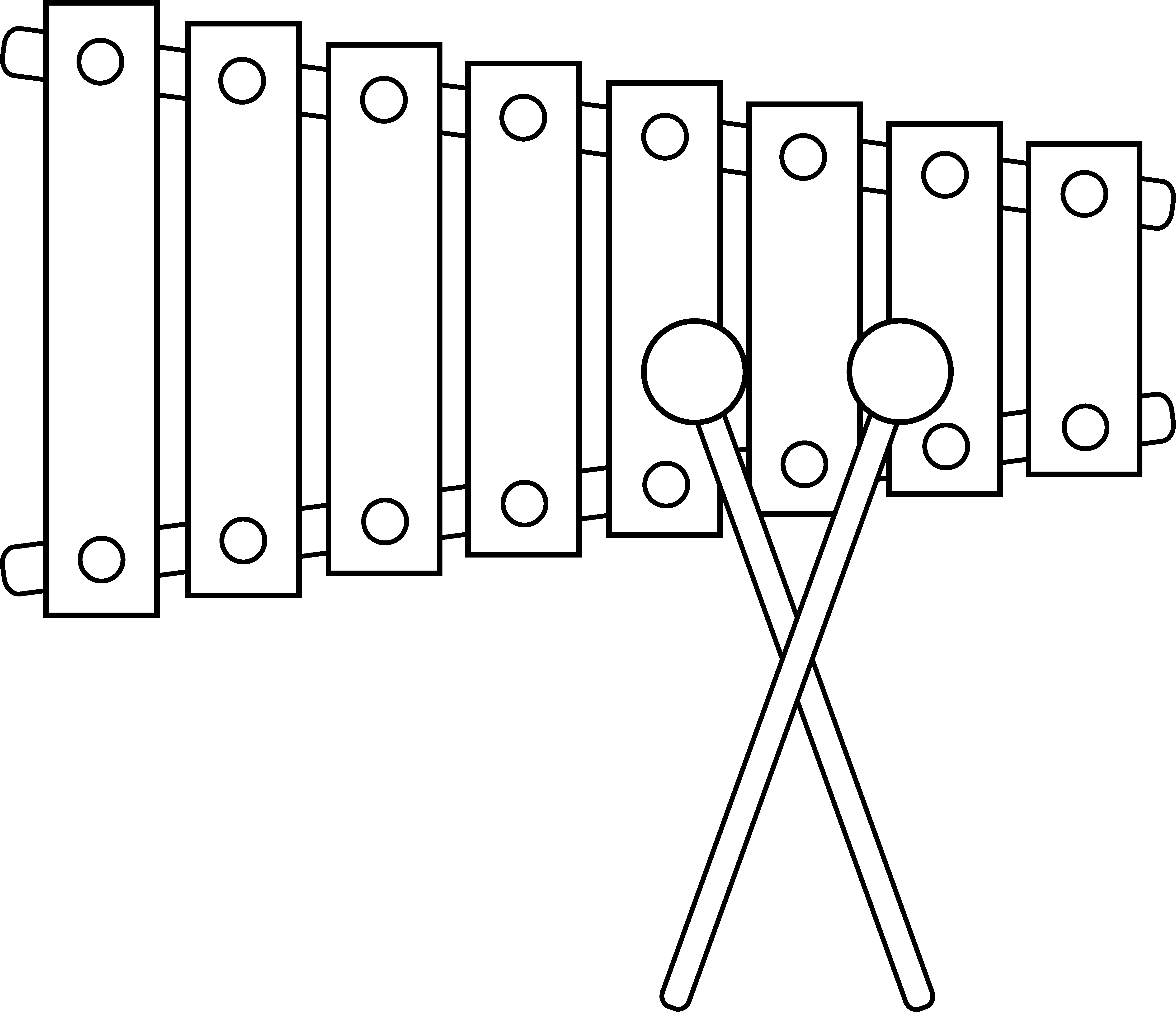 clip freeuse library Xylophone black and white clipart. Outline free on dumielauxepices.