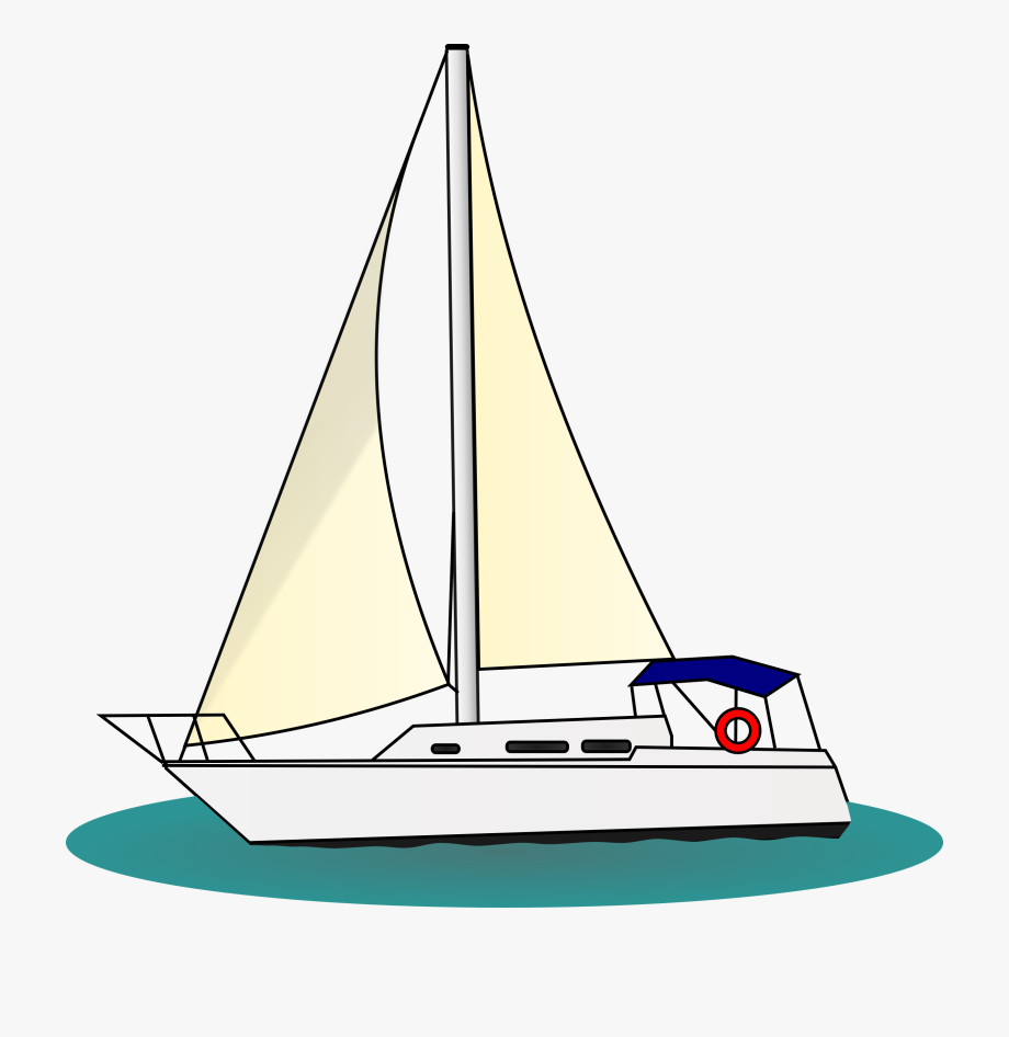 png transparent Boat sailing sail ship. Yacht clipart