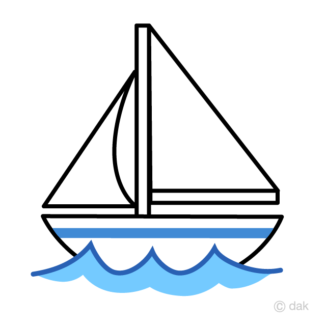 black and white download Yacht clipart. Cute free picture illustoon