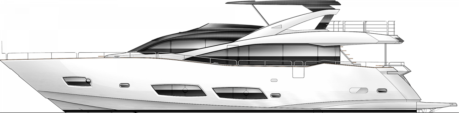 freeuse library  metre sunseeker lebanon. Yacht clipart black and white