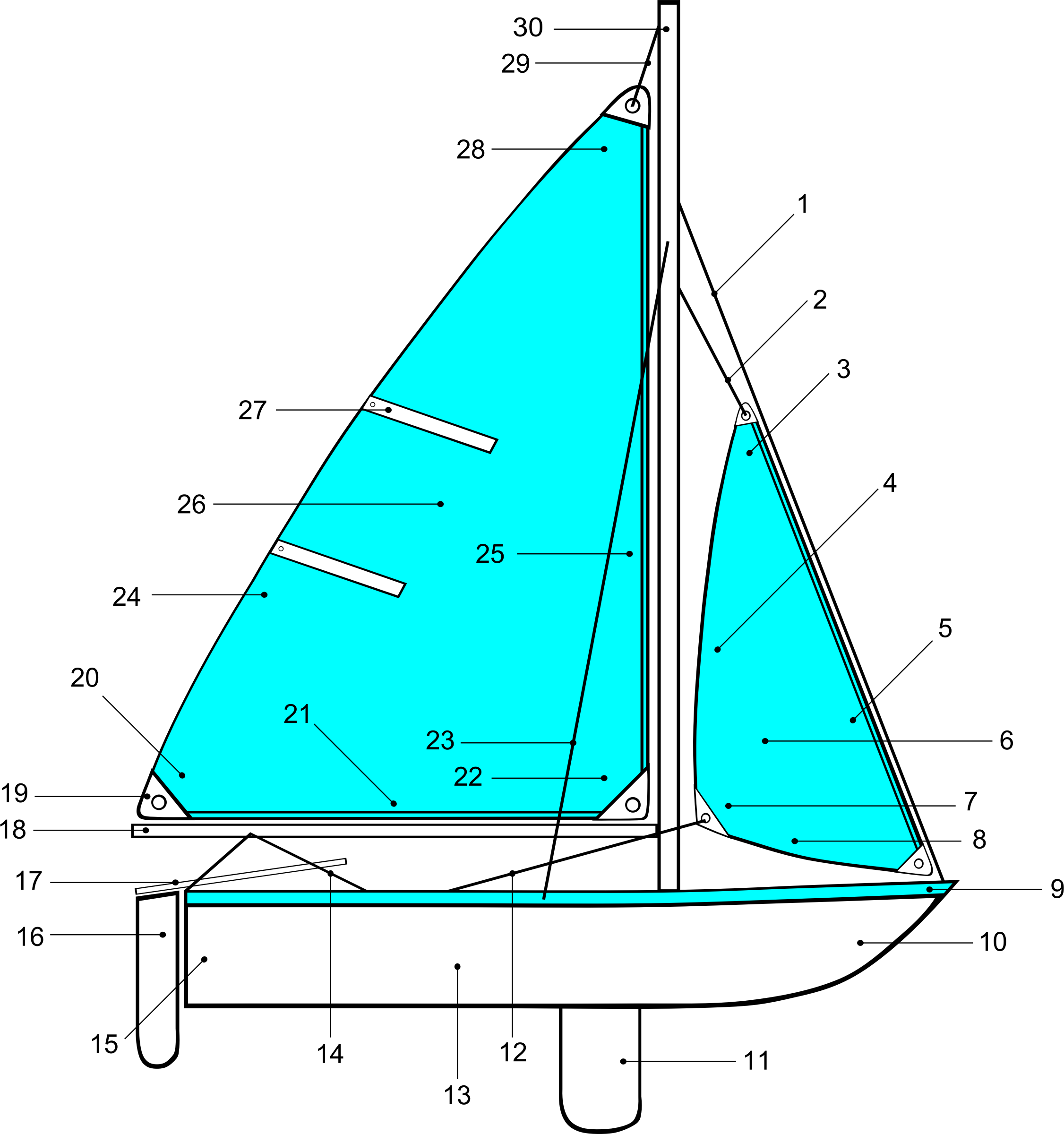 vector freeuse download Sailing parts of illustration. Yacht clipart big boat