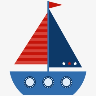 clipart free stock Yacht clipart blue baby. Sail sailing boat