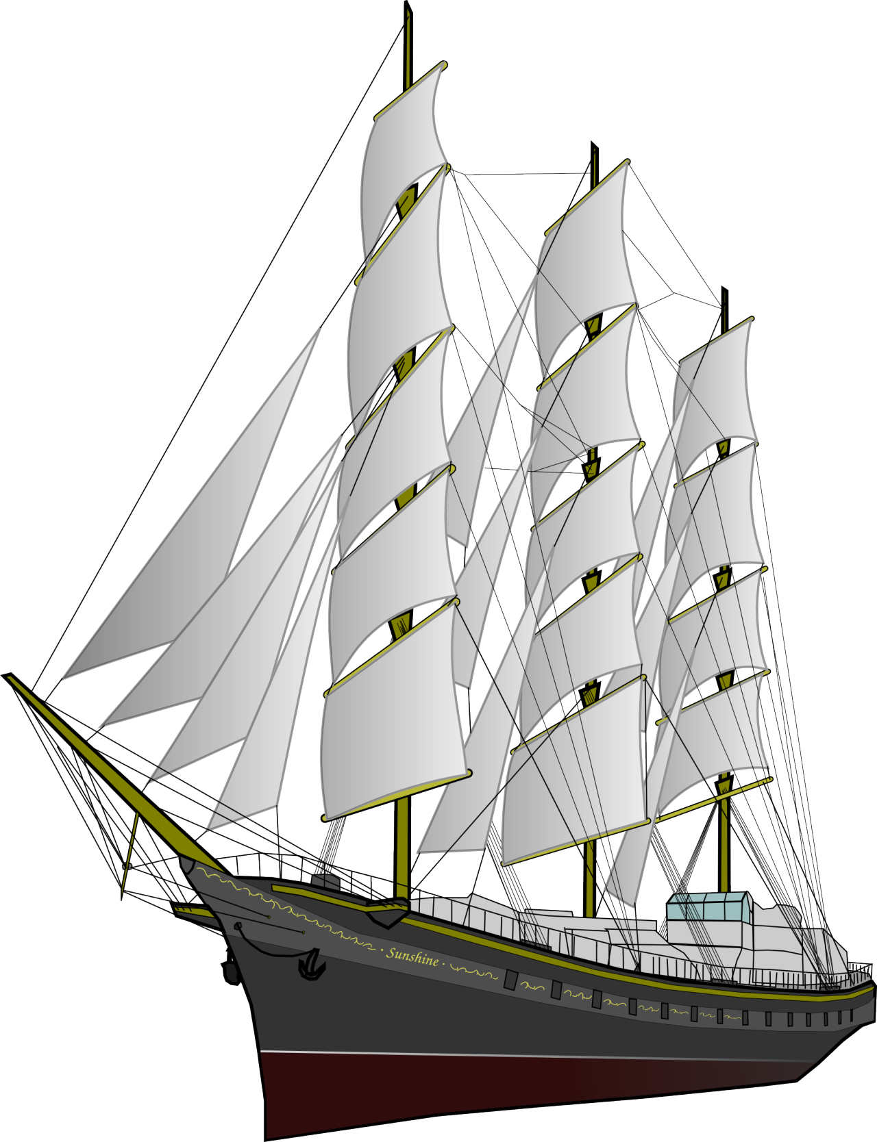 graphic library Clipper ship png download. Yacht clipart boart