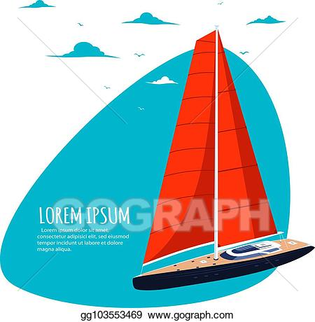 image library library Eps illustration club sticker. Yacht clipart boart