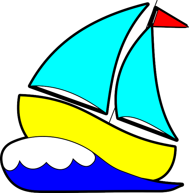 png royalty free library Yacht clipart boat. Sailing cartoon free on