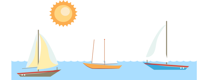 vector freeuse Sailing Boat clipart outing