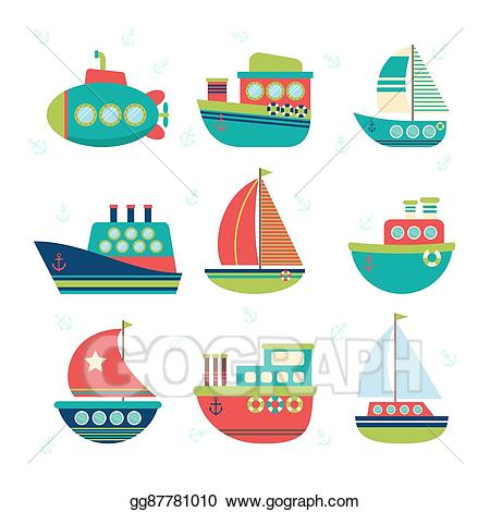 png library Vector stock different kind. Yacht clipart boat transport