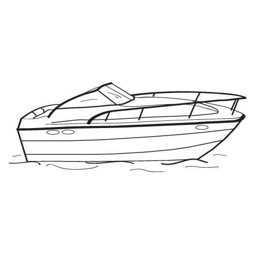 jpg black and white Yacht clipart cabin cruiser. Boat covers custom westland