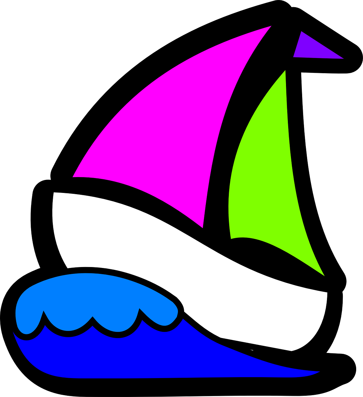 clip freeuse download yacht clipart colorful boat #85758848