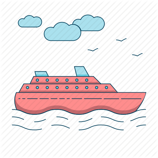 clip art black and white stock Yacht clipart colorful boat. Travel essentials colored by