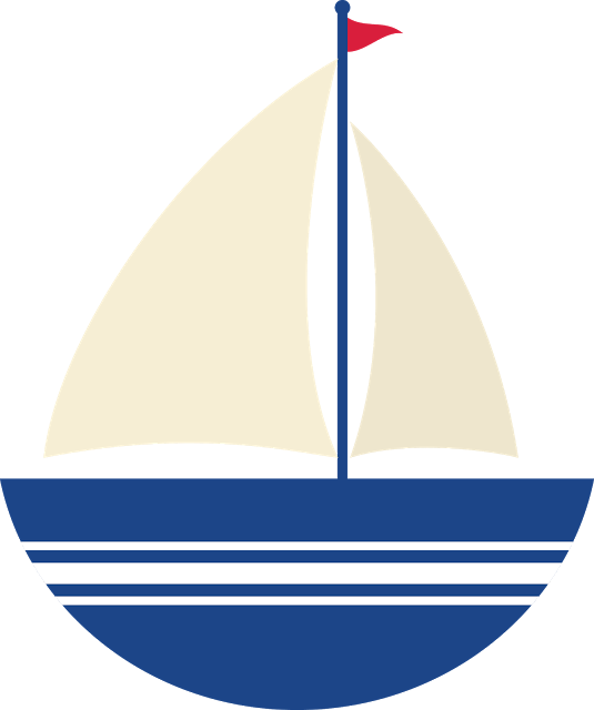 clip art library library Nautical sailboat . Yacht clipart colorful boat