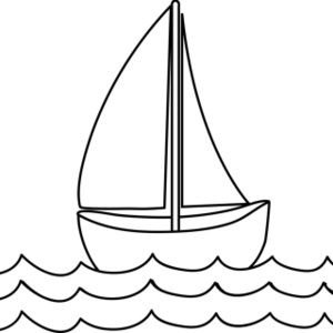 picture library Free page clip art. Yacht clipart coloring