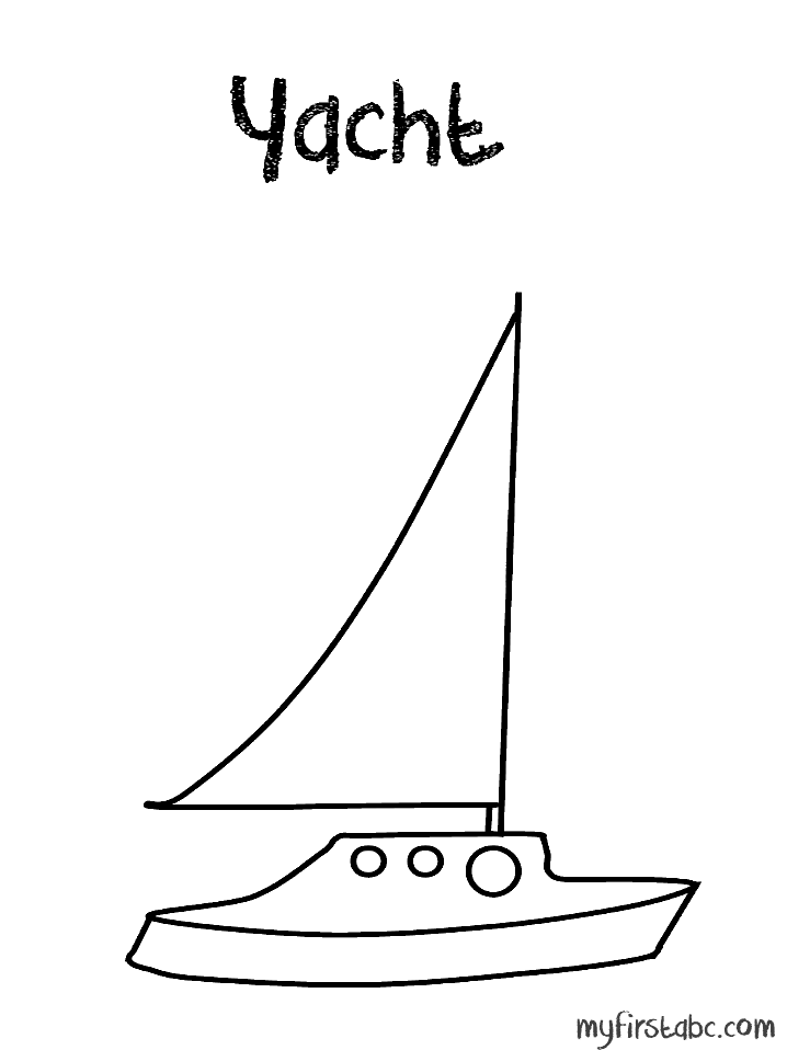 vector black and white download Yacht clipart coloring. Free pages download clip