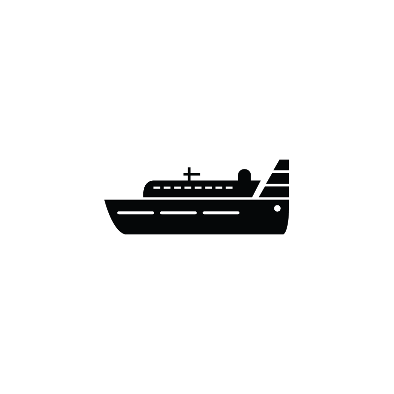 jpg library Yacht clipart cruise ship. Vessel cargo vector icon