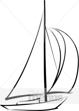 image black and white library Yacht clipart drawing. Sailboat clip art