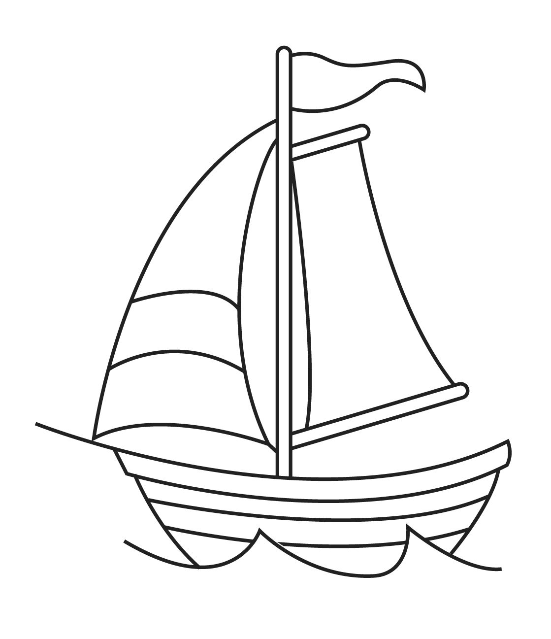 picture library library Sailboat put some yellow. Yacht clipart drawing