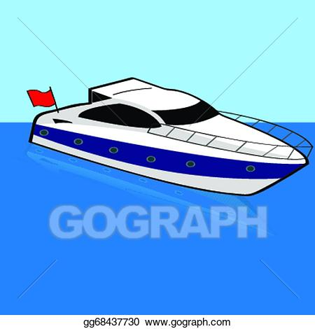 graphic freeuse stock Yacht clipart fast boat. Vector stock speed clip