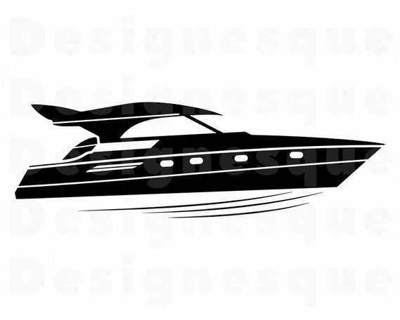 jpg transparent stock Speed svg motor files. Yacht clipart fast boat