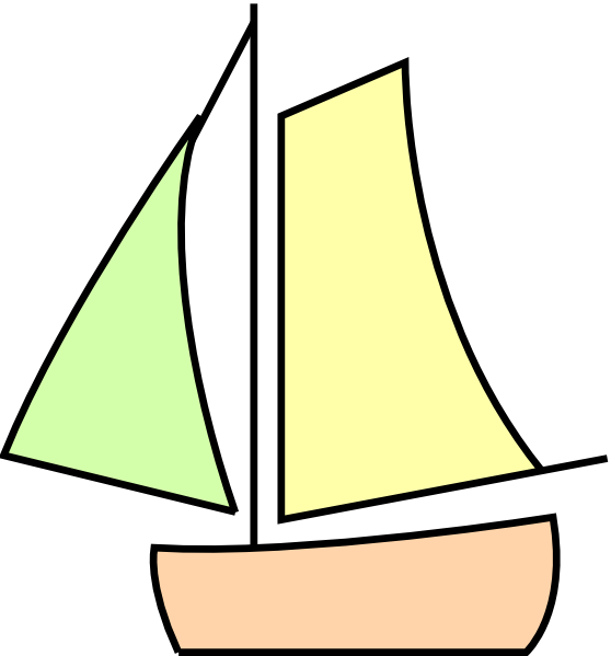 banner transparent Sailing Boat White Clip Art at Clker