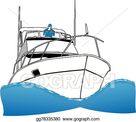 vector library stock Yacht clipart fishing ocean. Clip art vector offshore