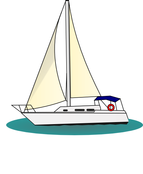 clip library library Animated sailboat clip art. Yacht clipart large boat