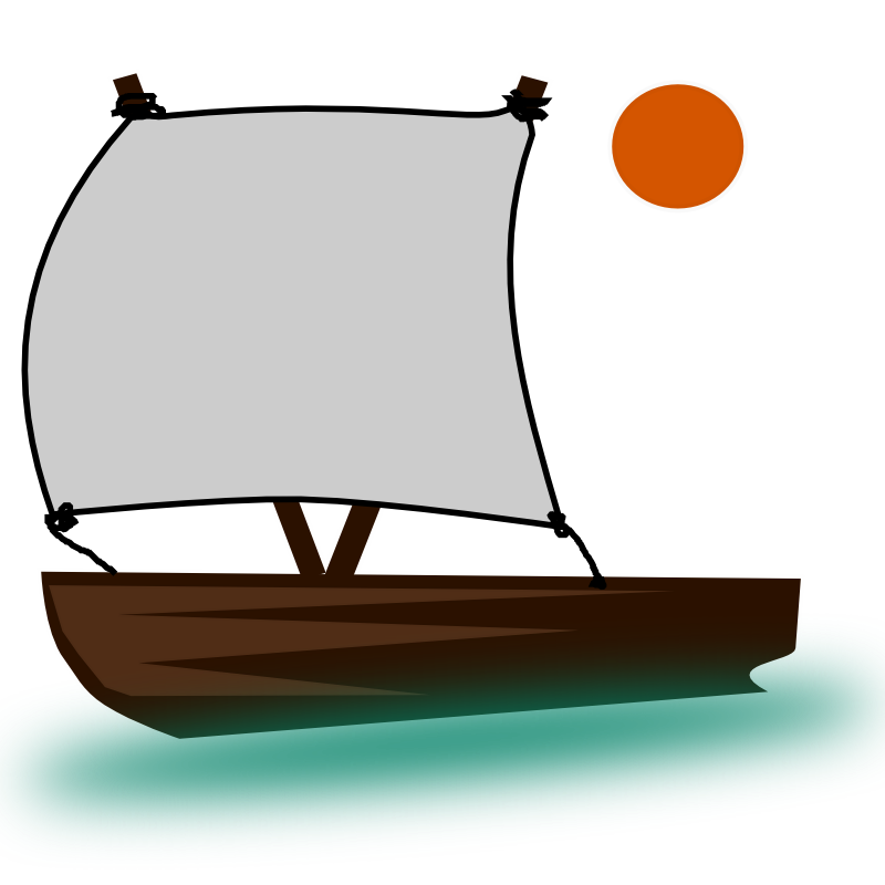 clip freeuse library Sailing ship bangka free. Yacht clipart little boat