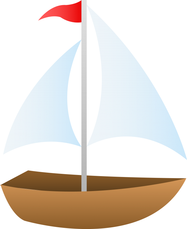 picture black and white Sailboat craft projects transportations. Yacht clipart little boat