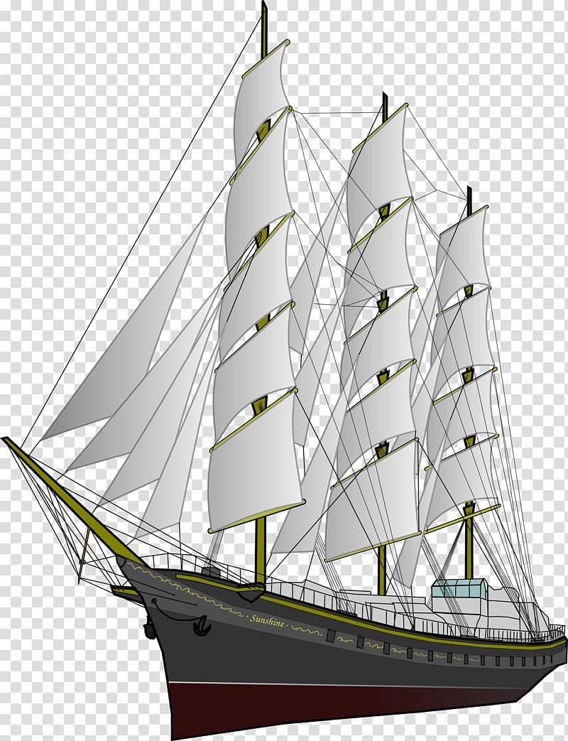 clip freeuse stock Sailing ship clipper ships. Yacht clipart mast
