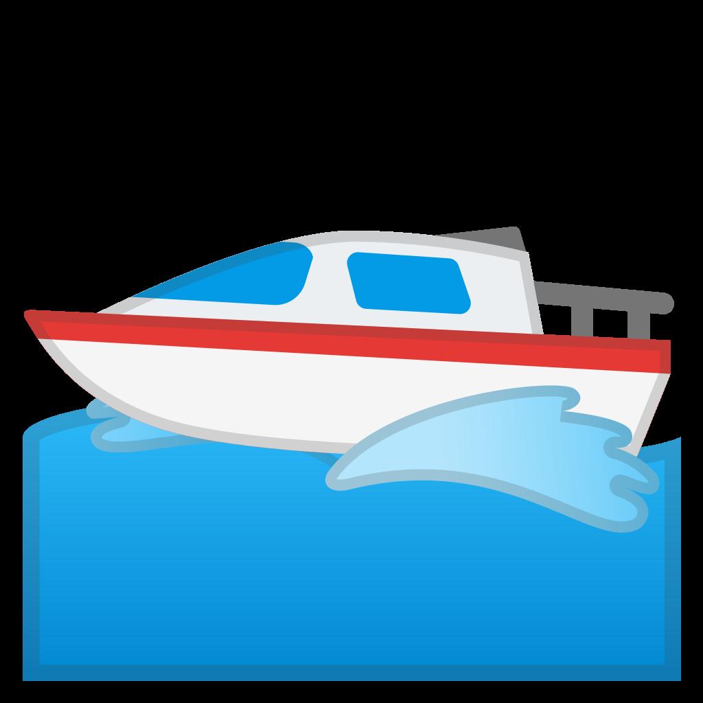 clipart library library Vector boat motor. Icon noto emoji travel