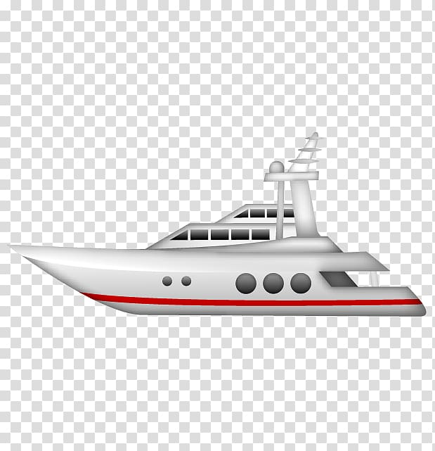 vector black and white White and red art. Yacht clipart motor