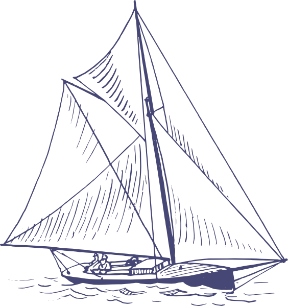 image library library Blue clip art at. Yacht clipart nautical