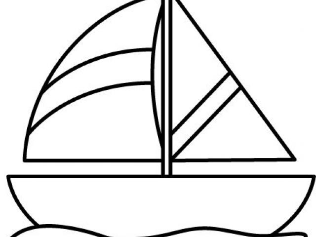 image royalty free Yacht clipart outline. Free orange boat download