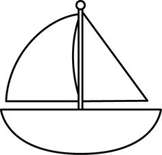 banner transparent library Sailboat black and white. Yacht clipart outline