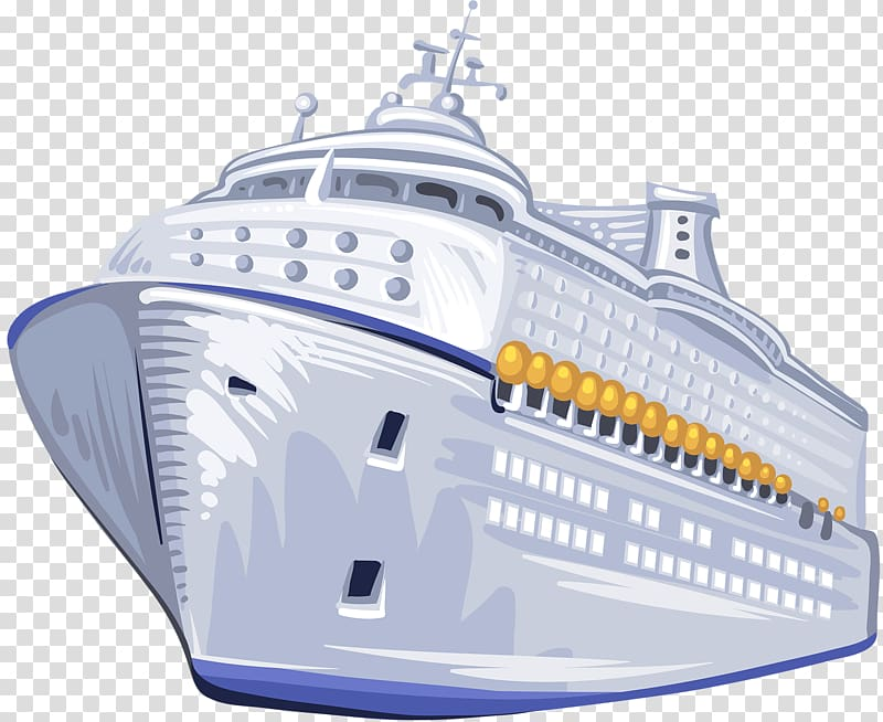image library Yacht clipart passenger ship. Cruise naval architecture large