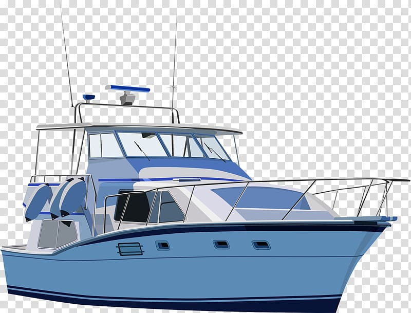 clip library stock Yacht clipart powerboat. White and blue against