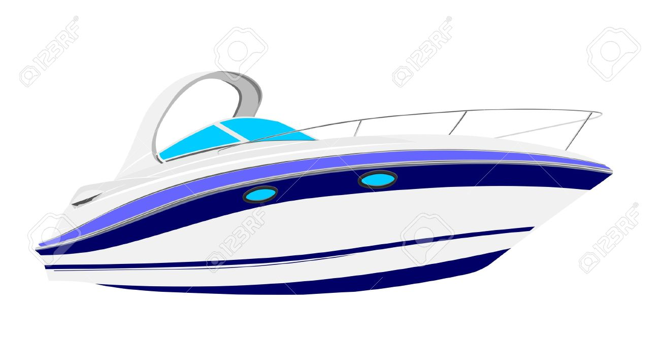 graphic black and white stock Speed boats free download. Yacht clipart powerboat