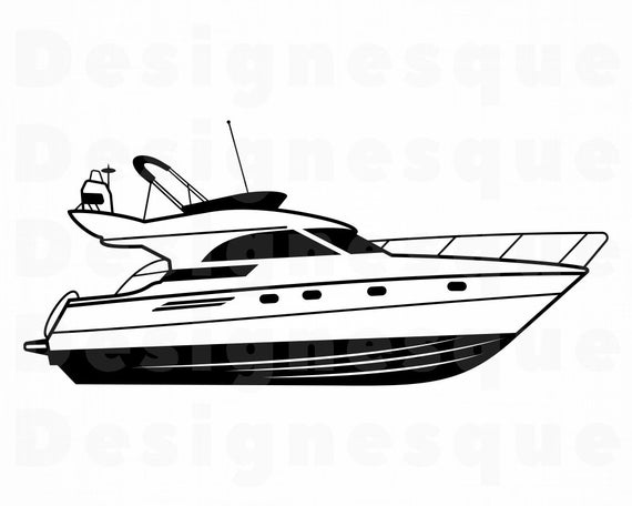vector free stock Yacht clipart powerboat. Speed boat svg motor